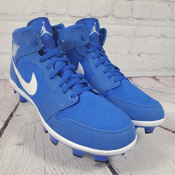 Nike Jordan 1 Retro Baseball Cleats Blue